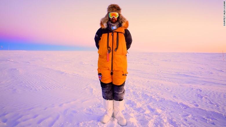 Alex Kumar in Antarctica.