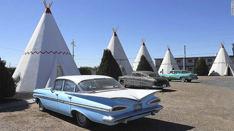 "Influenced by Native American culture, Frank Redford began building these <a href=""http://www.tripadvisor.com/Hotel_Review-g31244-d113061-Reviews-Wigwam_Motel-Holbrook_Arizona.html"" target=""_blank"">teepee motels </a>across America in the 1930s. Only three remain."