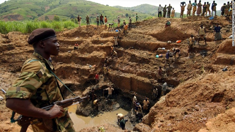 A gold mine in the Democratic Republic of Congo. Global Witness believe Uganda's gold rush may be fueled by minerals from conflict areas.