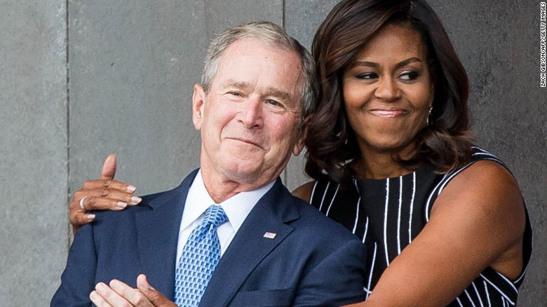 Image result for George W. Bush explains his fondness for Michelle Obama