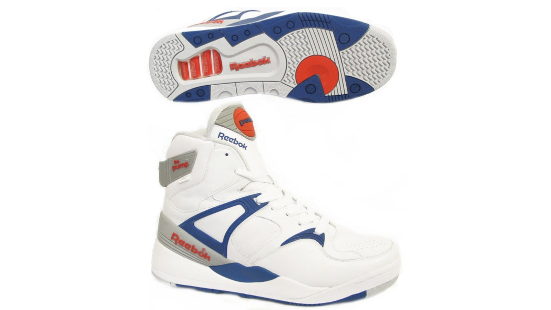 """Launched in 1989 in a bid to rival Nike Air Max, Reebok's Pump was a sneaker game changer -- the first shoe with an inflation chamber in the tongue that pumped up to provide a custom-fit around the ankle. When Boston Celtic's <a href=""""https://www.youtube.com/watch?v=bQOeLu1kcdU"""" target=""""_blank"""">Dee Brown bent down to inflate his Pumps</a> before netting a reverse dunk in the 1991 Slam Dunk Competition, the shoes became a cult classic, which have spawned many <a href=""""http://www.reebok.co.uk/court-victory-pump/AR3174.html?slot=1"""" target=""""_blank"""">iterations</a> since."""