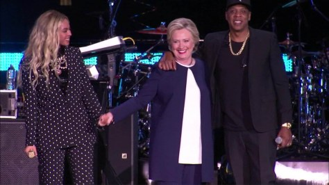 Image result for jay z beyonce hillary clinton