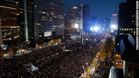 Image result for south korea protests 2016