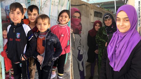 Many children still play outside despite the dangers. They live in the liberated neighborhood of Zahraa but remain within firing range of ISIS.