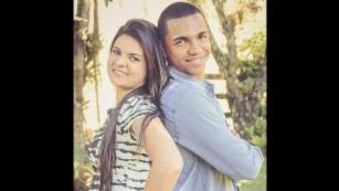 Tiaguinho y su esposa Graziele antes de su boda. (Crédito: Carol Jund de Bom Jardim, RJ)