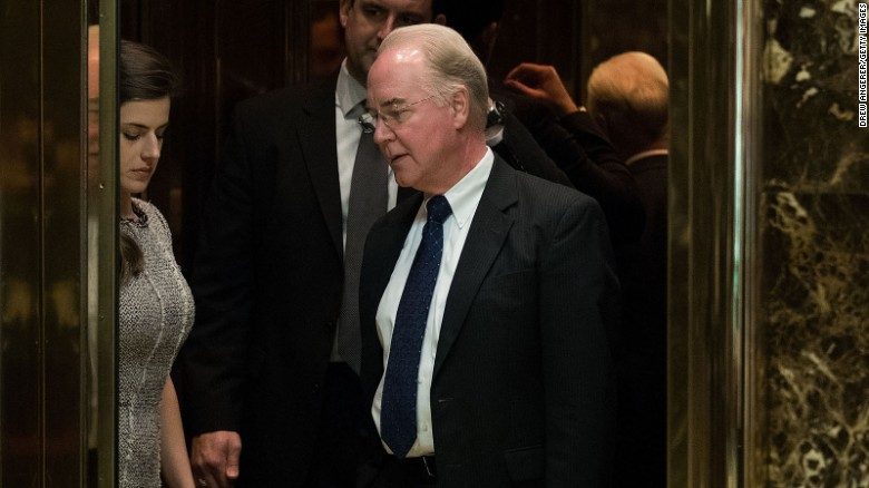 Image result for photos of tom price at hearing