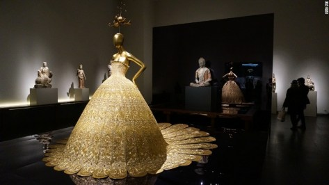 "This dress is called ""Dajin,"" but is also known as Magnificent Gold. Embroidered with gold and pearls, it required more than 50,000 hours of work."