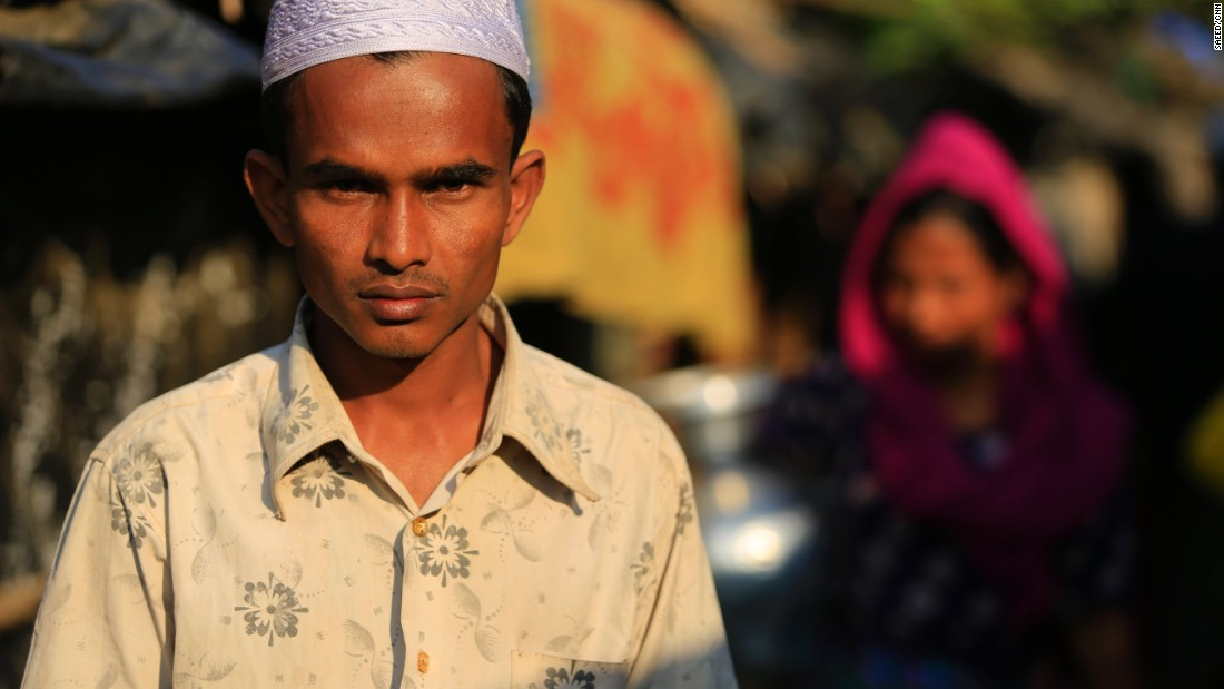 Zafor Alam inside the Leda camp, Teknaf, Bangladesh.