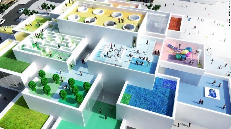 Un'altra meraviglia architettonica da Bjarke Ingels Group (BIG), il team LEGO Casa scelto di realizzare un edificio in base alle possibilità dei blocchi amati.  La costruzione di uno-di-un-tipo usato extra-large mattoncini LEGO di ispirazione per la fondazione, e ha creato livelli di incastro in un design modulare.