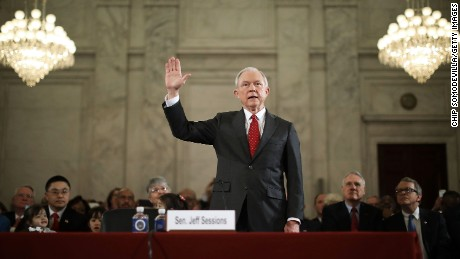 Image result for jeff sessions pictures testifying before congress