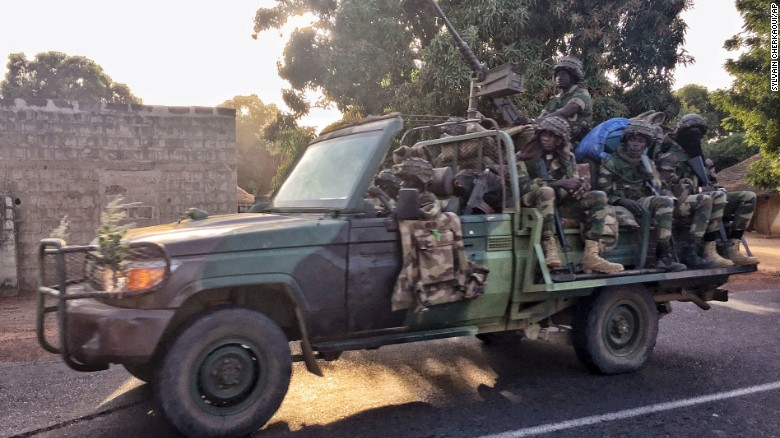 Senegalese soldiers are entering the country to remove Jammeh.