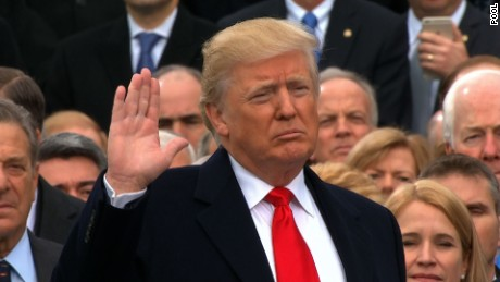 Image result for donald trump sworn in as president