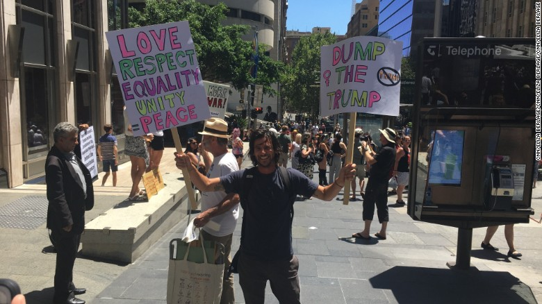Thousands of protesters turn out Saturday in downtown Sydney.