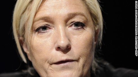Leader of the french far-right Front National (FN) party Marine Le Pen holds a press conference on March 9, 2015 in Metz, eastern France, ahead of the March 22 and 29, 2015 regional elections. AFP PHOTO / JEAN-CHRISTOPHE VERHAEGEN        (Photo credit should read JEAN-CHRISTOPHE VERHAEGEN/AFP/Getty Images)