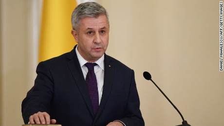 Romania's Justice Minister Florin Iordache resigned on Thursday.