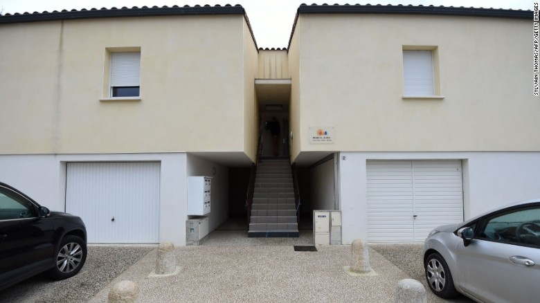 French anti-terrorist police on Friday raided this apartment, where suspects believed to be involved in plotting an attack were arrested, in Clapiers, near Montpellier, southern France.
