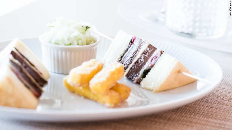 Finish off with Chez L'Épicier's chocolate club sandwich.