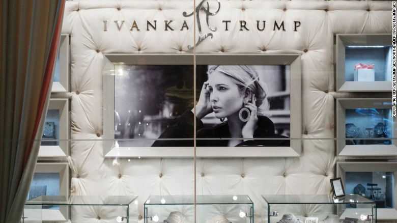 A view of jewelry for sale at the 'Ivanka Trump Collection' shop in the lobby at Trump Tower, February 10, 2017 in New York City.