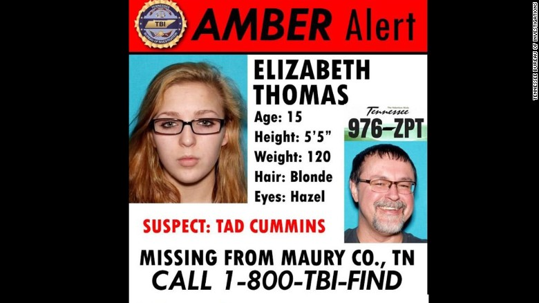 Tennessee authorities issued this Amber Alert last week.