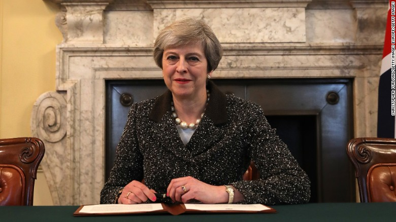 In late March, Theresa May signed the official letter triggering divorce proceedings with the EU.