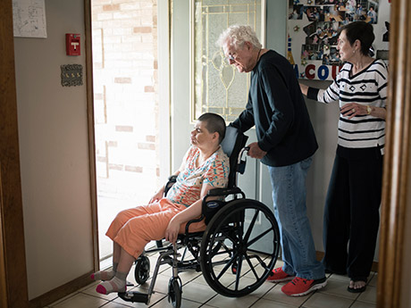 Dortha and her husband of 32 years, Tom Biggs, visit Lesli as often as they can.