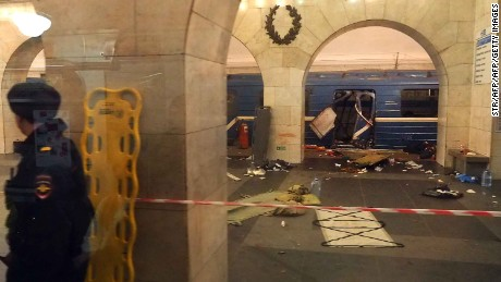 Image result for St. Petersburg metro attack 'carried out by suicide bomber'
