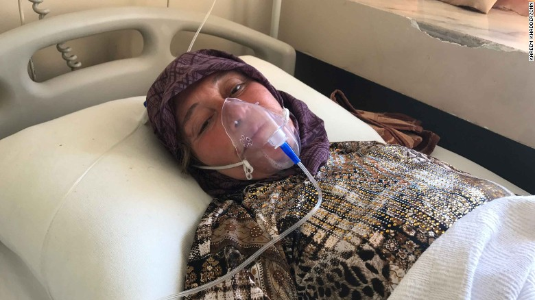 Aisha al-Tilawi, 55, says she lost three members of her family in Tuesday's attack.