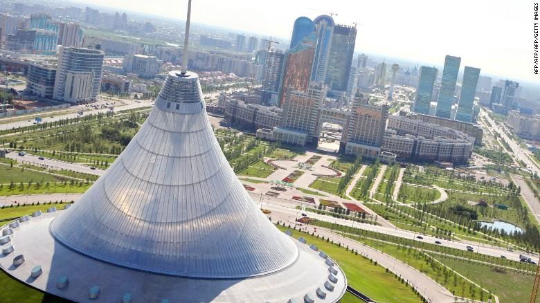 Astana's iconic entertainment center.
