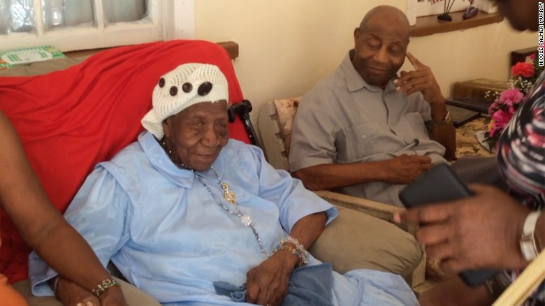 Violet-Mosse Brown, known as Aunt V, celebrates her 117th birthday in March.