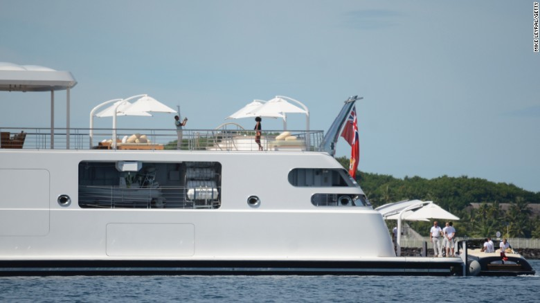 Image result for Obama snaps photo of Michelle on yacht
