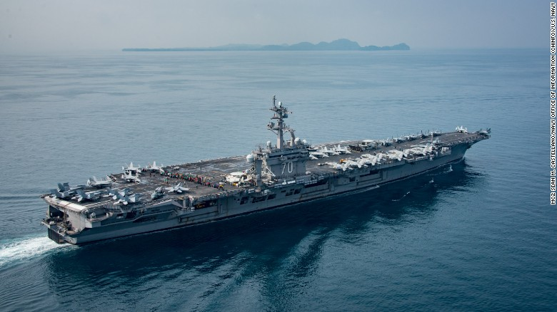 Image result for Mockery, anger in South Korea over USS Carl Vinson 'bluffing'