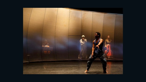 Qudus Onikeku's 'Right here Right now' is a live performance and dance film trilogy infused with indigenous and contemporary dance