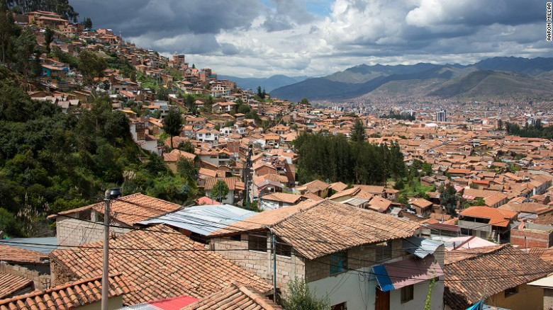 The red rooftops of Cusco's old town.
