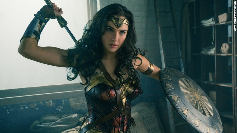 "Gal Gadot's Wonder Woman first made an appearance in the 2016 film ""Batman v Superman: Dawn of Justice."" Her 2017 solo movie broke a box office record for most money made by woman director on its opening weekend."