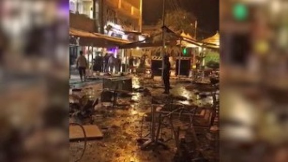 The explosion occurred outside a Baghdad shop.