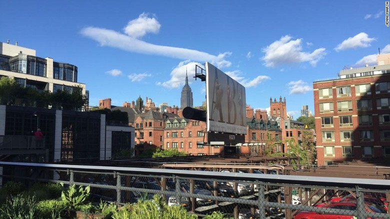 The view from the High Line in Manhattan, New York.