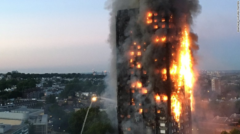 Image result for London fire live updates: Blaze engulfs apartment block