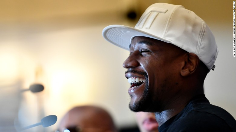 Floyd Mayweather Jr. is pictured the Savoy Hotel in London earlier this year.