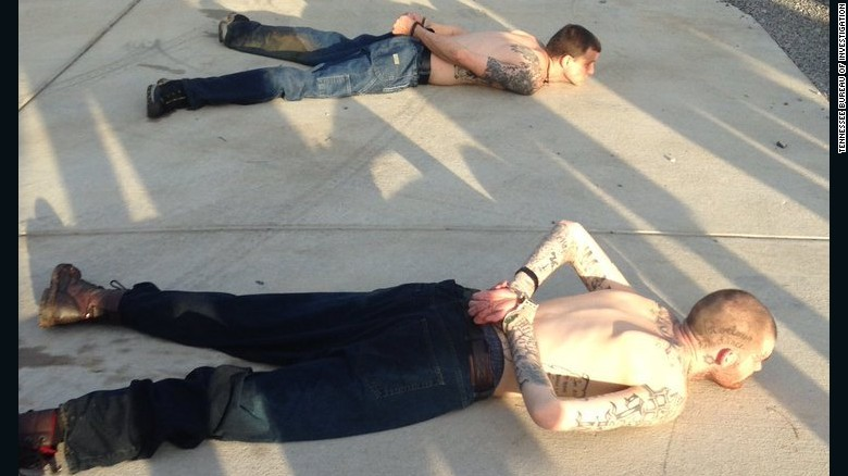 Ricky Dubose and Donnie Rowe after their capture.
