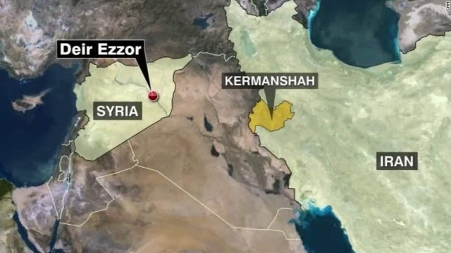The missiles were fired from bases in Kermanshah province.