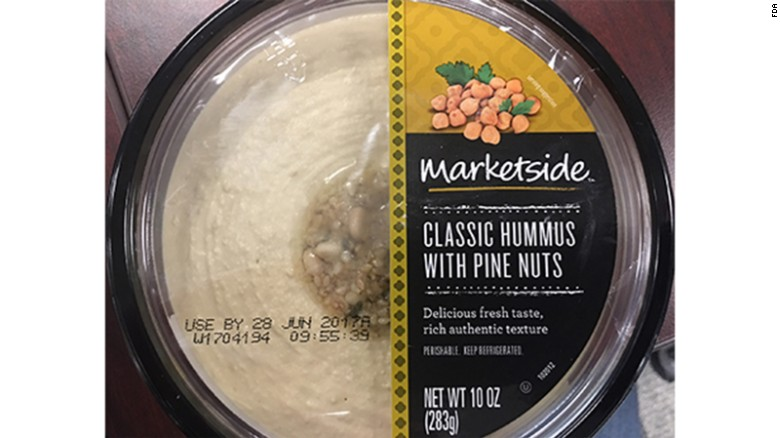 Marketside classic hummus with pine nuts is among the products being recalled.