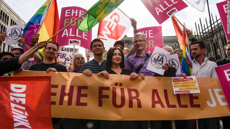 Gay rights activists in Germany have been calling for same-sex marriage to be legalized for many years.