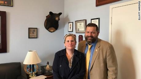Rebecca Wood with Virginia Rep. Tom Garrett, a Republican.