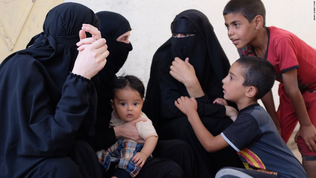 Image result for isis wives and children