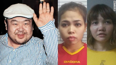 Image result for Two women accused of murdering Kim Jong Nam plead not guilty