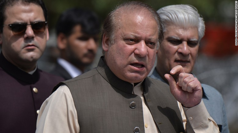 Prime Minister Nawaz Sharif, center, has been a force in Pakistan's turbulent politics for decades.