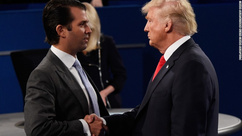 Image result for Trump 'weighed in' on son's statement about Russia meeting, White House says