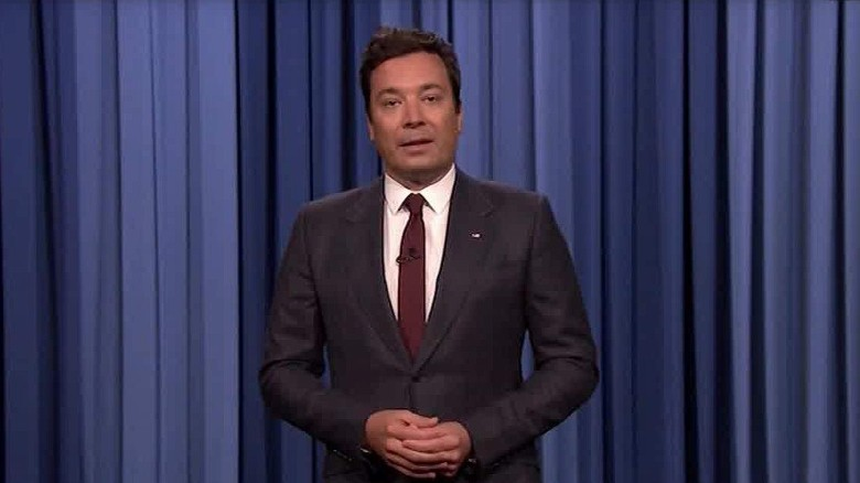 Image result for Tearful Jimmy Fallon gets serious about racism
