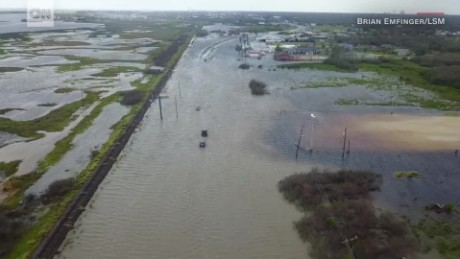Image result for Harvey makes second landfall along Louisiana-Texas border