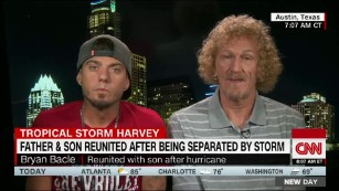 Father and son reunite after Harvey